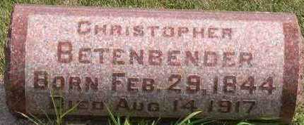 BETENBENDER, CHRISTOPHER - Linn County, Iowa   CHRISTOPHER BETENBENDER