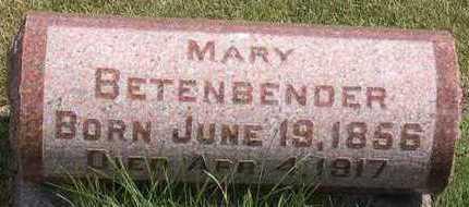 BETENBENDER, MARY - Linn County, Iowa   MARY BETENBENDER