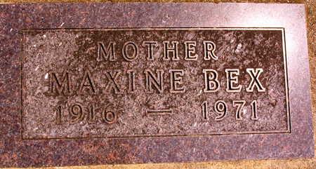 BEX, MAXINE - Linn County, Iowa | MAXINE BEX