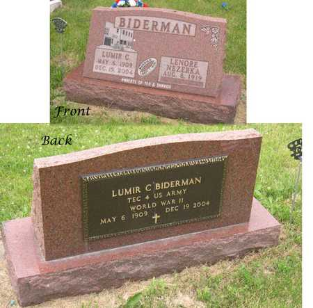 BIDERMAN, LUMIR C. - Linn County, Iowa | LUMIR C. BIDERMAN
