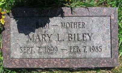 BILEY, MARY L. - Linn County, Iowa   MARY L. BILEY