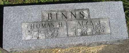 BINNS, ALZA J. - Linn County, Iowa | ALZA J. BINNS
