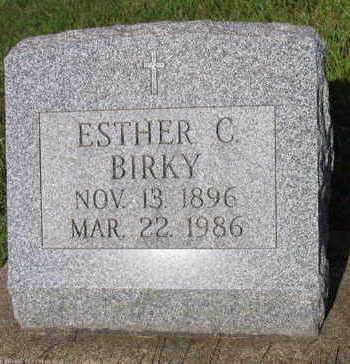 BIRKY, ESTHER C. - Linn County, Iowa   ESTHER C. BIRKY