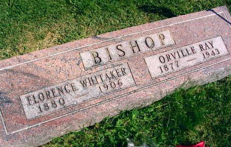 WHITAKER BISHOP, FLORENCE - Linn County, Iowa | FLORENCE WHITAKER BISHOP