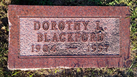 BLACKFORD, DOROTHY L - Linn County, Iowa | DOROTHY L BLACKFORD