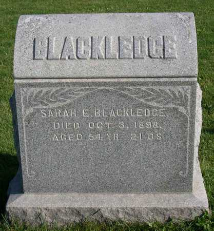 BLACKLEDGE, SARAH E. - Linn County, Iowa | SARAH E. BLACKLEDGE