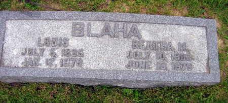 BLAHA, BERTHA M. - Linn County, Iowa   BERTHA M. BLAHA