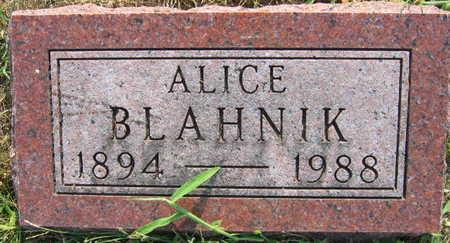 BLAHNIK, ALICE - Linn County, Iowa   ALICE BLAHNIK