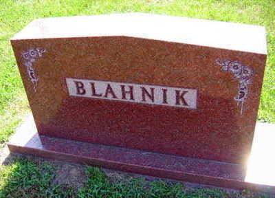 BLAHNIK, FAMILY STONE - Linn County, Iowa   FAMILY STONE BLAHNIK