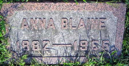BLAINE, ANNA - Linn County, Iowa | ANNA BLAINE