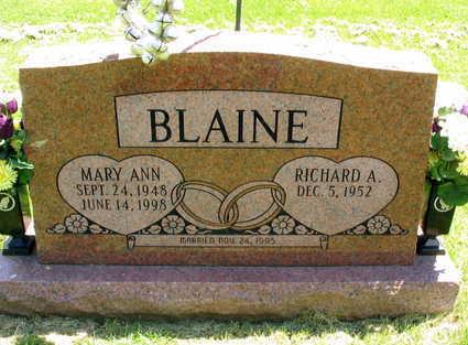 BLAINE, MARY ANN - Linn County, Iowa   MARY ANN BLAINE