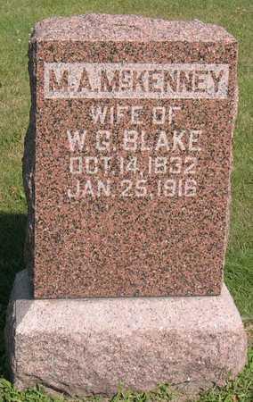 BLAKE, M. A. - Linn County, Iowa   M. A. BLAKE