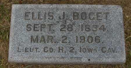 BOGET, LIEUT. ELLIS - Linn County, Iowa   LIEUT. ELLIS BOGET