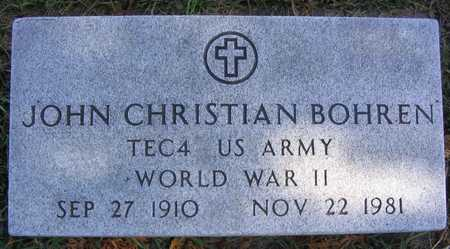 BOHREN, JOHN CHRISTIAN - Linn County, Iowa | JOHN CHRISTIAN BOHREN