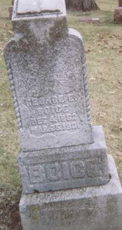 BOICE, GEORGE E. - Linn County, Iowa | GEORGE E. BOICE