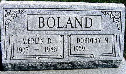 BOLAND, MERLIN D. - Linn County, Iowa | MERLIN D. BOLAND