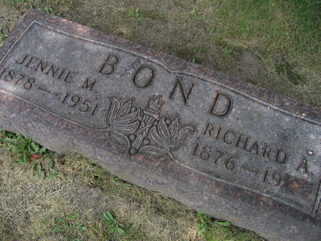 BOND, JENNIE M. - Linn County, Iowa | JENNIE M. BOND