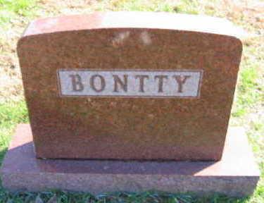 BONTTY, FAMILY STONE - Linn County, Iowa   FAMILY STONE BONTTY