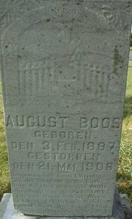 BOOS, AUGUST - Linn County, Iowa | AUGUST BOOS