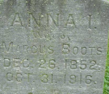 BOOTS, ANNA I. - Linn County, Iowa | ANNA I. BOOTS