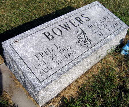 BOWERS, FRED L. - Linn County, Iowa   FRED L. BOWERS