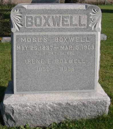 BOXWELL, MOSES - Linn County, Iowa | MOSES BOXWELL