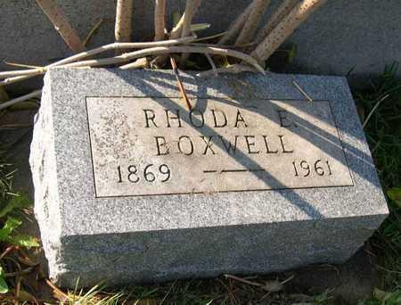 BOXWELL, RHODA E. - Linn County, Iowa   RHODA E. BOXWELL