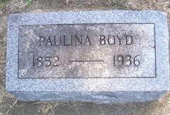 BOYD, PAULINA - Linn County, Iowa   PAULINA BOYD