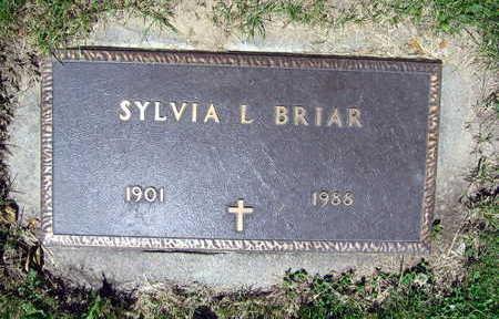 BRIAR, SYLVIA L. - Linn County, Iowa   SYLVIA L. BRIAR