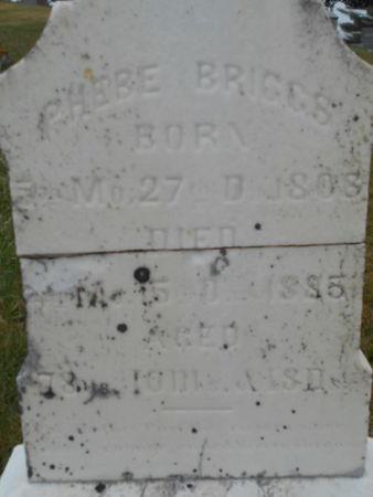 BRIGGS, PHEBE - Linn County, Iowa | PHEBE BRIGGS