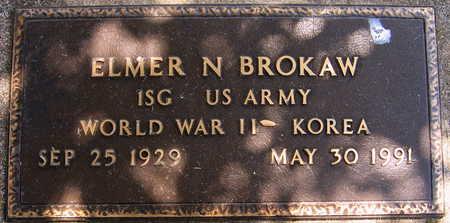 BROKAW, ELMER N. - Linn County, Iowa   ELMER N. BROKAW