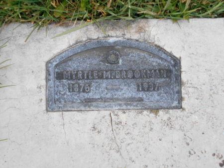 BROOKMAN, MYRTLE M. - Linn County, Iowa | MYRTLE M. BROOKMAN