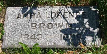 LORENCE BROWN, ANNA - Linn County, Iowa | ANNA LORENCE BROWN
