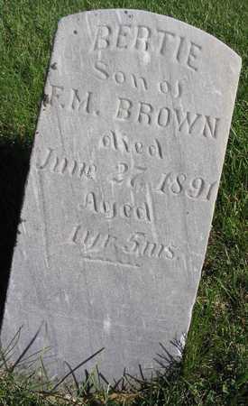 BROWN, BERTIE - Linn County, Iowa | BERTIE BROWN