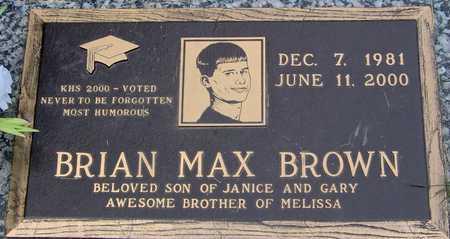 BROWN, BRIAN MAX - Linn County, Iowa | BRIAN MAX BROWN