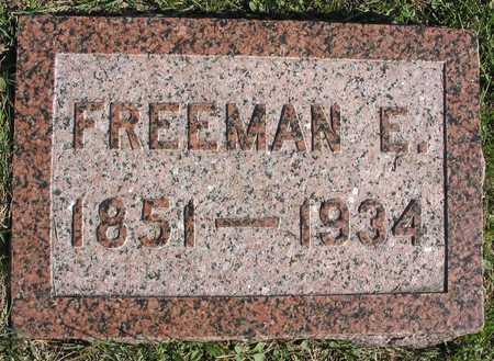 BROWN, FREEMAN E. - Linn County, Iowa   FREEMAN E. BROWN