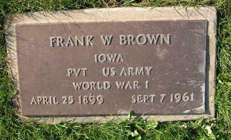 BROWN, FRANK W. - Linn County, Iowa   FRANK W. BROWN