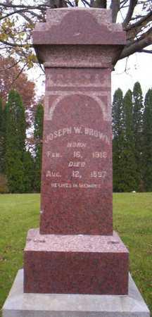 BROWN, JOSEPH W. - Linn County, Iowa | JOSEPH W. BROWN