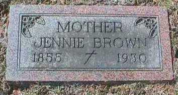 BROWN, JENNIE - Linn County, Iowa   JENNIE BROWN
