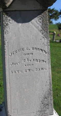 BROWN, JESSIE S. - Linn County, Iowa | JESSIE S. BROWN