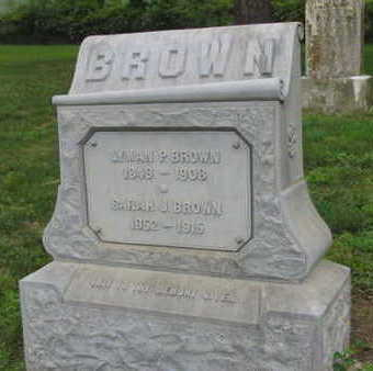 BROWN, SARAH J. - Linn County, Iowa | SARAH J. BROWN