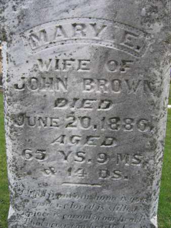 BROWN, MARY E. - Linn County, Iowa   MARY E. BROWN