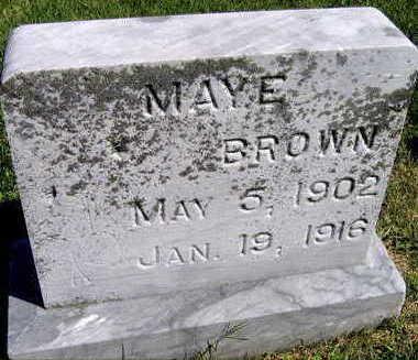 BROWN, MAYE - Linn County, Iowa   MAYE BROWN