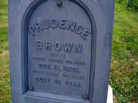 BROWN, PRUDENCE - Linn County, Iowa | PRUDENCE BROWN