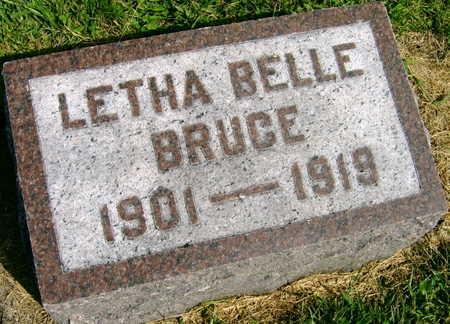 BRUCE, LETHA BELLE - Linn County, Iowa | LETHA BELLE BRUCE