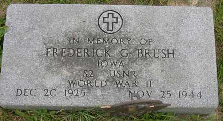 BRUSH, FREDERICK G. - Linn County, Iowa   FREDERICK G. BRUSH