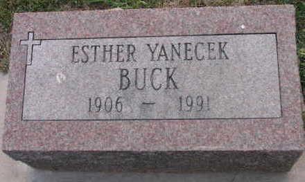 YANECEK BUCK, ESTHER - Linn County, Iowa   ESTHER YANECEK BUCK