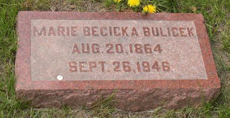 BULICEK, MARIE - Linn County, Iowa | MARIE BULICEK