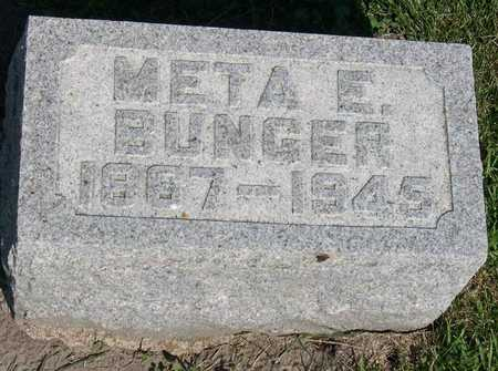 BUNGER, META E. - Linn County, Iowa   META E. BUNGER