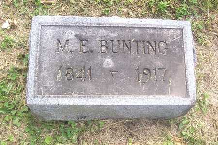 BUNTING, M. E. - Linn County, Iowa | M. E. BUNTING